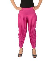 Maroon plain Lycra free size patialas pants