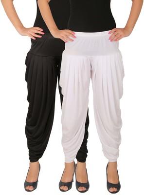 Black and White plain Lycra free size combo patialas pants
