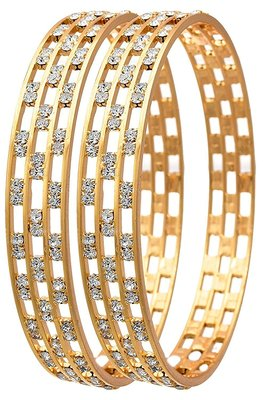 93babf612730d Alloy traditional ethnic 1 gram gold plated designer kada:: bangles for  women wedding :: jewellery for women