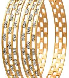 ccdedd83074 Alloy Traditional Ethnic 1 Gram Gold Plated Designer kada/ Bangles for Women  Wedding / Jewellery