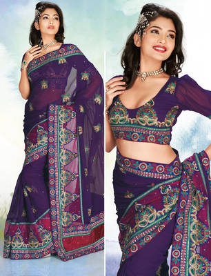 Goldmine920 Beautiful Chiffon Sari