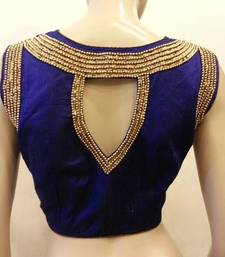 Blue Rawsilk Blouse
