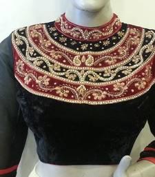 Buy Enigmatic Black velvette handwork blouse bridal-blouse online