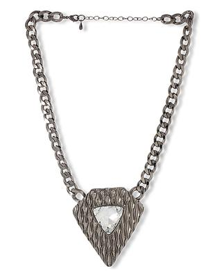 Crystal Decked Statement Necklace