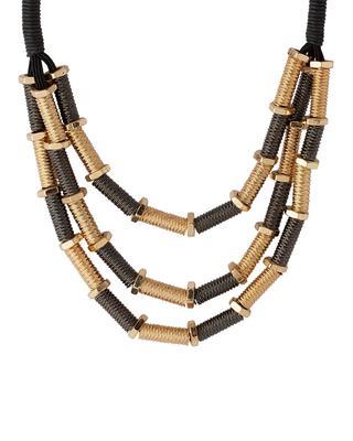 Gold plain necklaces