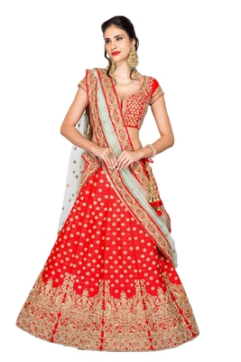 Red thread embroidery