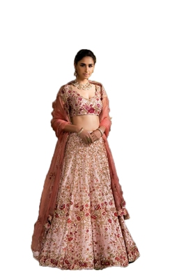 Light-pink thread embroidery