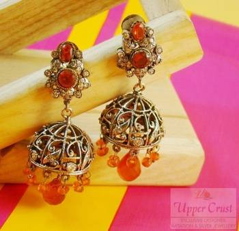 Antique Victorian Jhumka Jhumki Earrings