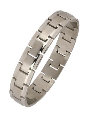 Italian Geometric Silver Rhodium 316L Surgical Stainless Steel Openable Kada Bracelet Boys Men