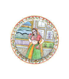 Buy Marble Lady Plate decorative-plate online