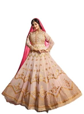 Light-pink thread embroidery georgette salwar