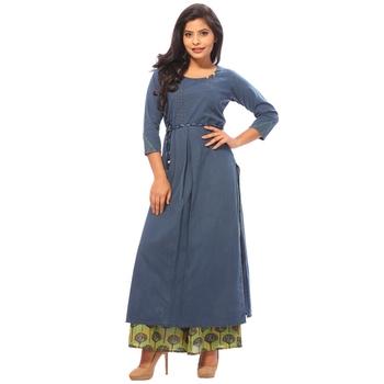 e85b9d9f1c Blue plain cotton salwar - PAYAL ENTERPRISE - 2592797