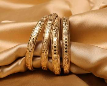 Guarantee Gold  Dyed Bracelets With Stamping Design By Leshya