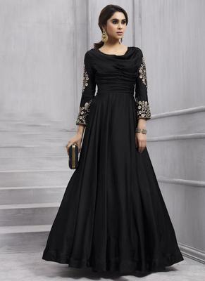 Black Taffeta Anarkali Salwar Kameez