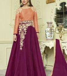 Violet Silk Anarkali Salwar Kameez