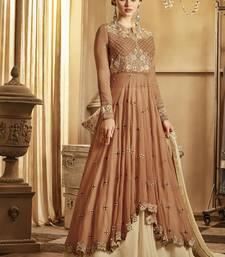 Buy Brown Georgette Pakistani Salwar Kameez wedding-salwar-kameez online