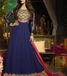 Buy Blue Georgette bollywood salwar malaika-arora-khan online