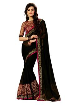 b4d9b3d51c2526 Black Sarees - Buy Black Color Saree online   Best Prices