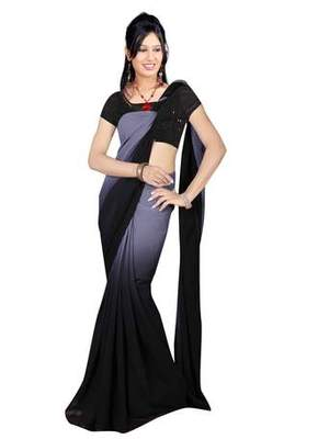 232750db32aad3 Kajal Agarwal bollywood replica black georgette and pedding saree with  blouse - Dancing Girl Apparels - 350130
