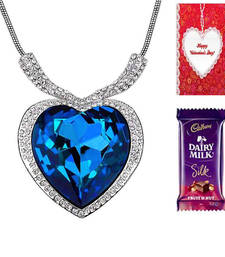 Valentine Special Titanic Inspired Heart Pendent Necklace with card and chocolate