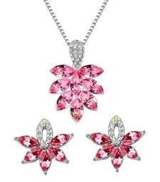 Luxurious Leaves Pink Pendant Set