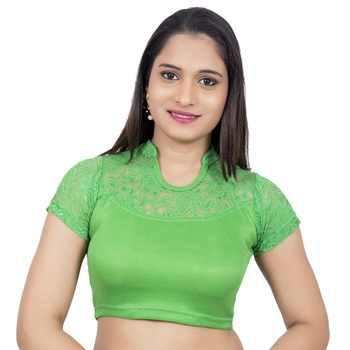 Green Lycra Palin stitched blouse