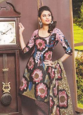 Cotton Dress Material Elegant Designer Unstitched Suit 11031