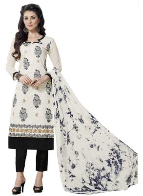 White embroidered cotton salwar