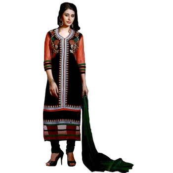 Multicolor embroidered cotton salwar