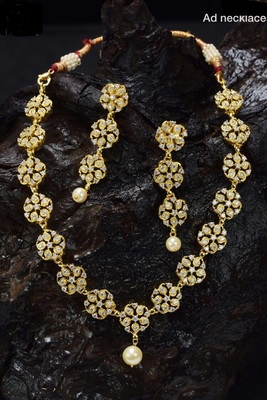 Zirconia Stones White Necklace Set