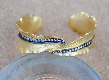 American Diamond Leaf Bracelet