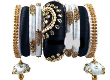 Black bangles-and-bracelets