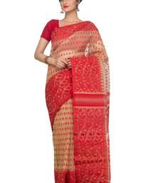 Multicolor hand woven pure bengal handloom saree