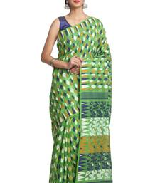 Buy Multicolor hand woven pure bengal handloom saree jamdani-saree online