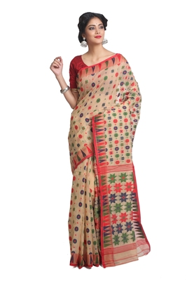Multicolor Hand Woven Pure Bengal Handloom Saree