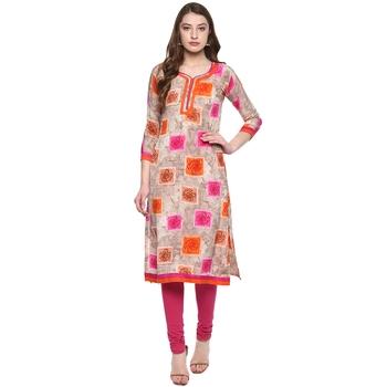 Multicolor printed Women  crepe kurti