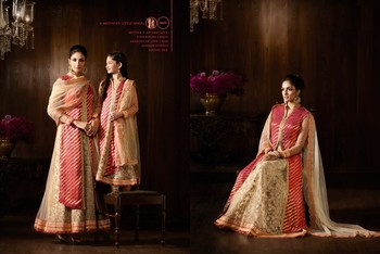 Gold Embroidered Net unstitched salwar with dupatta