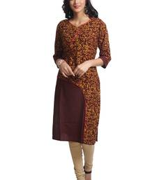 Multicolor Hand Woven Linen Stitched Kurti