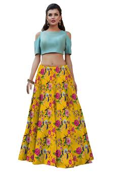 8e75e2f447 Crop Top Lehenga Online | Buy Crop Top Lehenga Choli for Girls