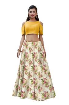 fcea448a6282a Floral Lehenga Online – Buy Floral Print Lehenga Choli with Crop Top