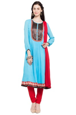 Blue Plain Georgette Salwar