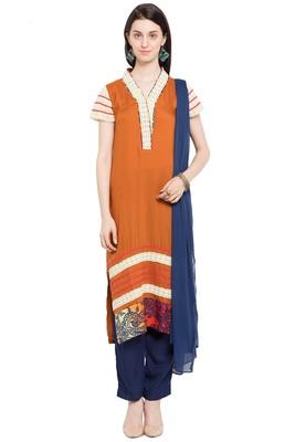 Brown Plain Cotton Salwar