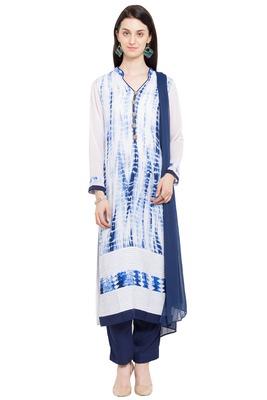 White Printed Cotton Salwar