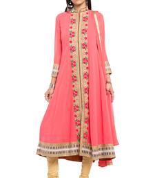 Light pink embroidered georgette salwar