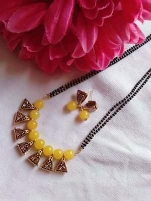 Yellow mangalsutra