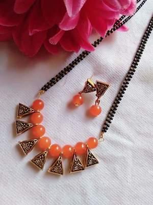 Orange mangalsutra