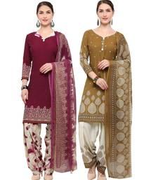 Buy Wine digital print crepe salwar women-ethnic-wear online