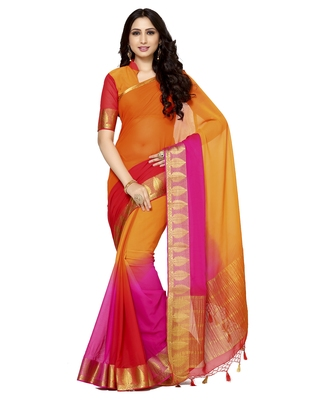 Mimosa Multi Woven Chiffon Saree With Blouse
