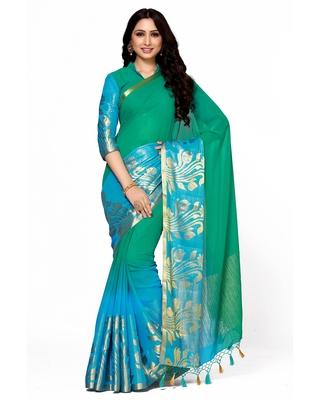 Mimosa multi woven chiffon saree with blouse