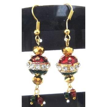 Red & Green earrings/JW-722